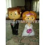 Ходячие фигуры жених и невеста
